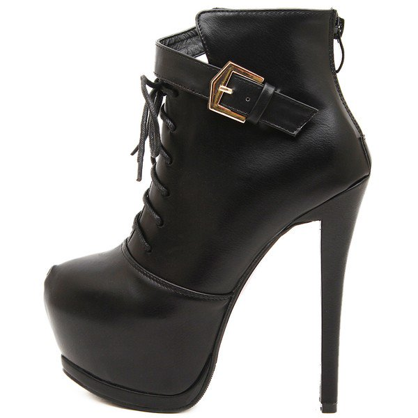 Lace Up Booties With Heel 5uwYDsiz