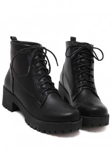 Lace Up Chunky Heel Boots bfILrG84