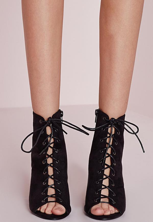 Lace Up Heel Boots Zs9Pg8o9