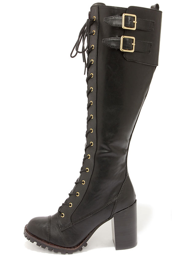 Lace Up High Heel Boots GO75pTXd