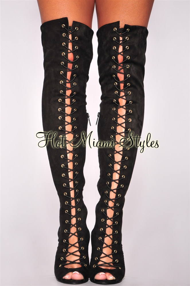 Lace Up High Heel Boots lz1ceYLt