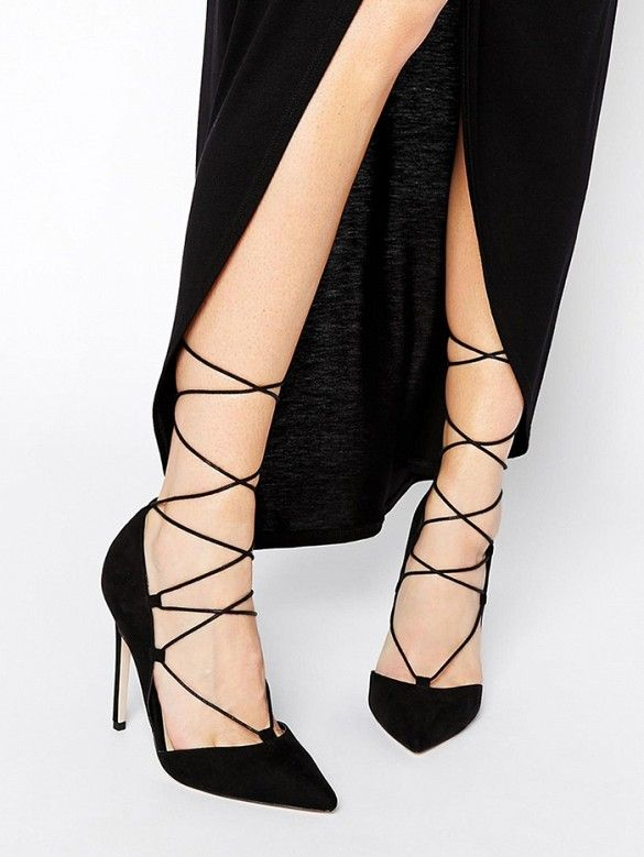 Lace Up High Heel Shoes JcY5soyJ