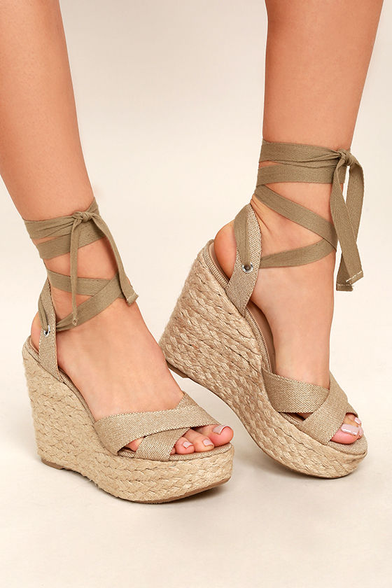 Lace Up Wedge Heels b32kEtuw