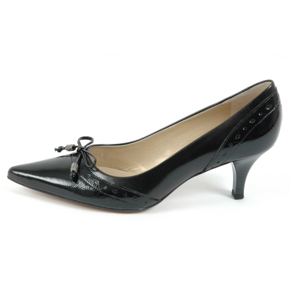 Leather Kitten Heel Pumps XFD00eRW