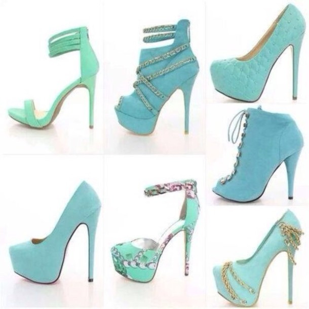 Light Blue Shoes Heels Vgzag7WX