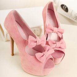 Light Pink Heels With Bow rOXnSuks