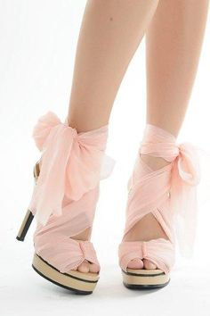 Light Pink Heels With Bow 0gVz1A66
