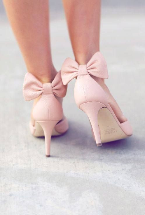 Light Pink Heels With Bow WunJ45dM