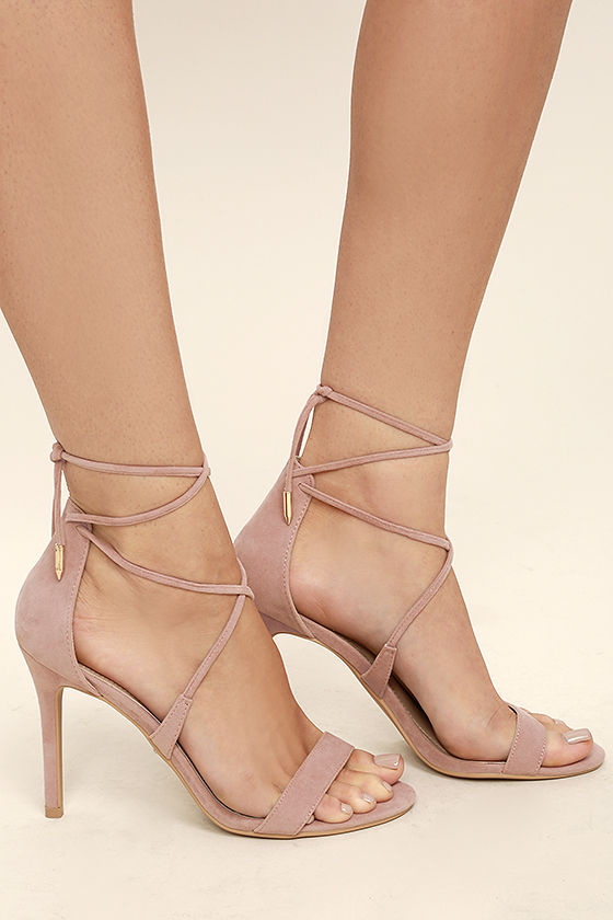 Light Pink Strappy Heels T1NxG4Jt
