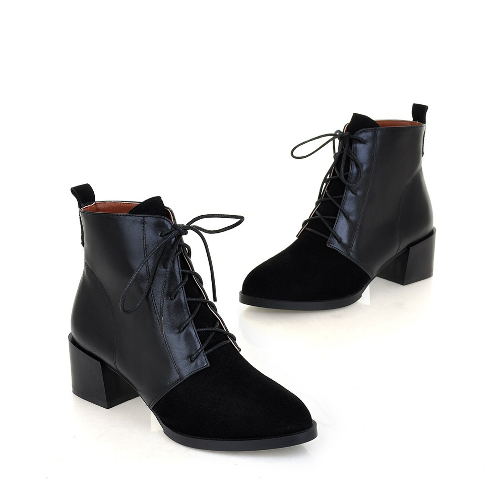 Low Heel Lace Up Boots jH0TmsQw