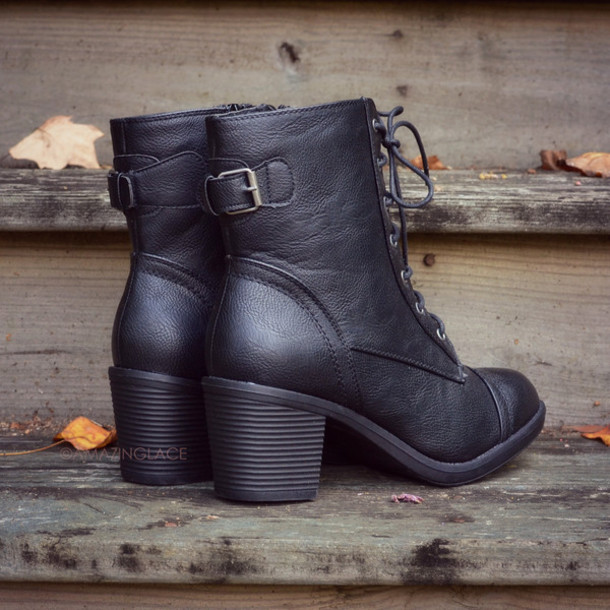 Low Heel Lace Up Boots M67Q3bWe