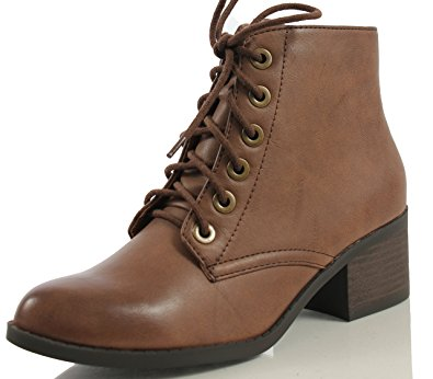 Low Heel Lace Up Boots yiLWf9K6
