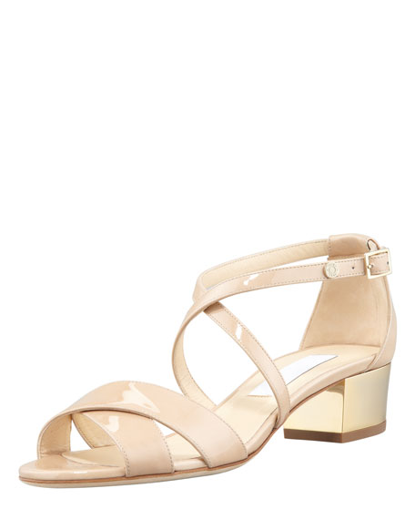 Low Heel Nude Sandals HRJPKtyW