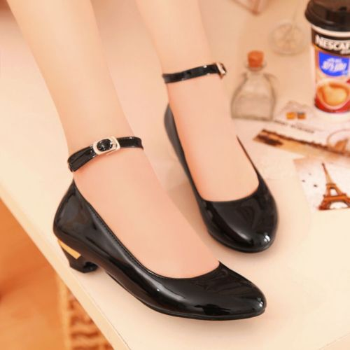 Low Heel Pumps With Ankle Strap g4omEv4h