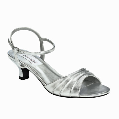 Low Heel Silver Evening Shoes aCAeN5oN