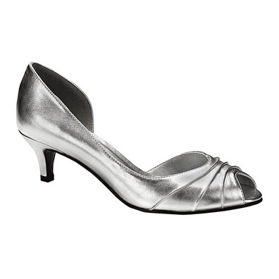Low Heel Silver Pumps oP8sm07a