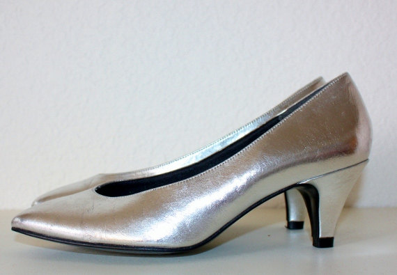 Low Heel Silver Pumps pmJPMzD4