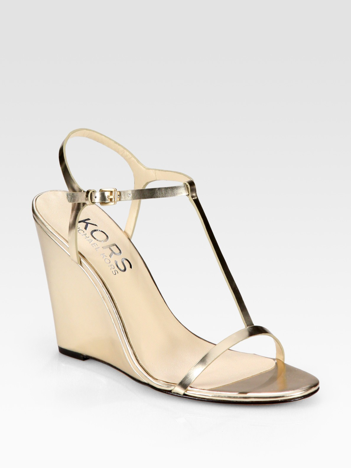 Metallic Wedge Heels nxcIoZ3E