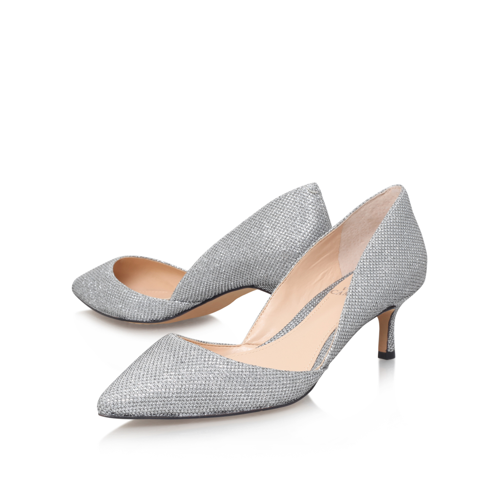 Mid Heel Silver Shoes 9JeoBF28