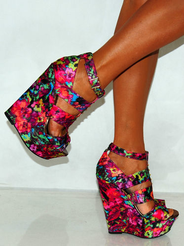 Multi Color Wedge Heels M6crN1a3