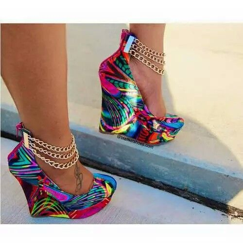 Multi Color Wedge Heels GPh0L2TJ
