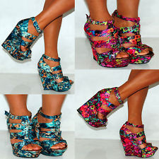 Multi Color Wedge Heels dUMJyDxG