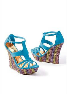 Multi Color Wedge Heels fmAOXrE7