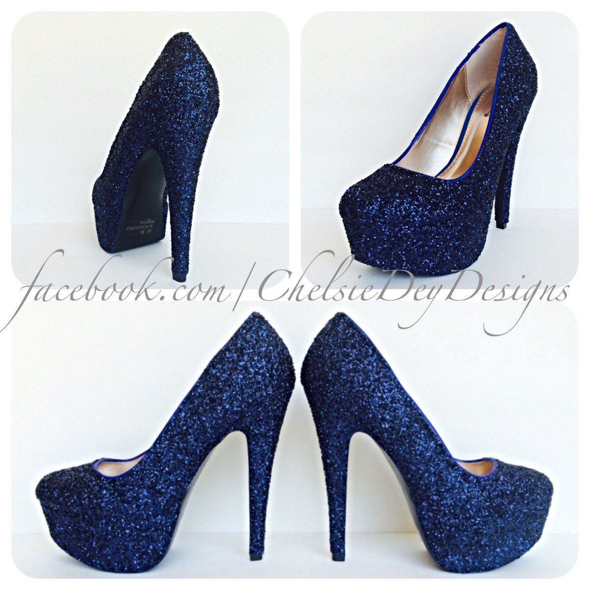 Navy Blue And Silver Heels TaHxgDK4