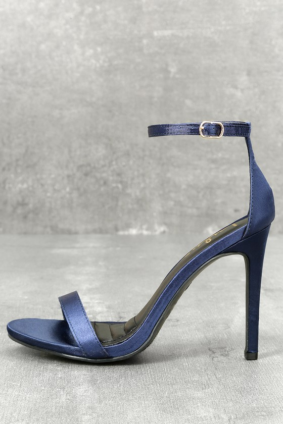 Navy Blue Heels With Ankle Strap XXRv4LYs