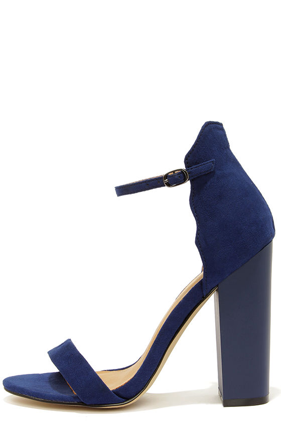 Navy Blue Heels With Ankle Strap fxSBLwCO