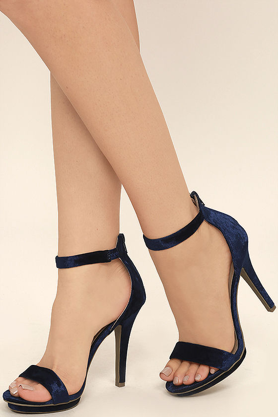 Navy Blue Heels With Ankle Strap yHmQvDoD