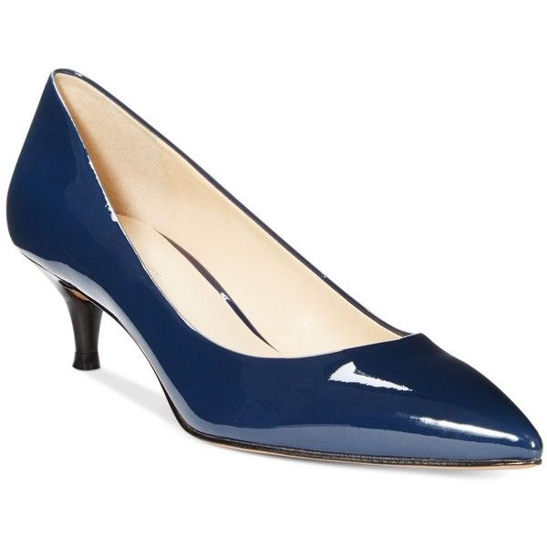 Navy Kitten Heel Pumps e7NxAH3J