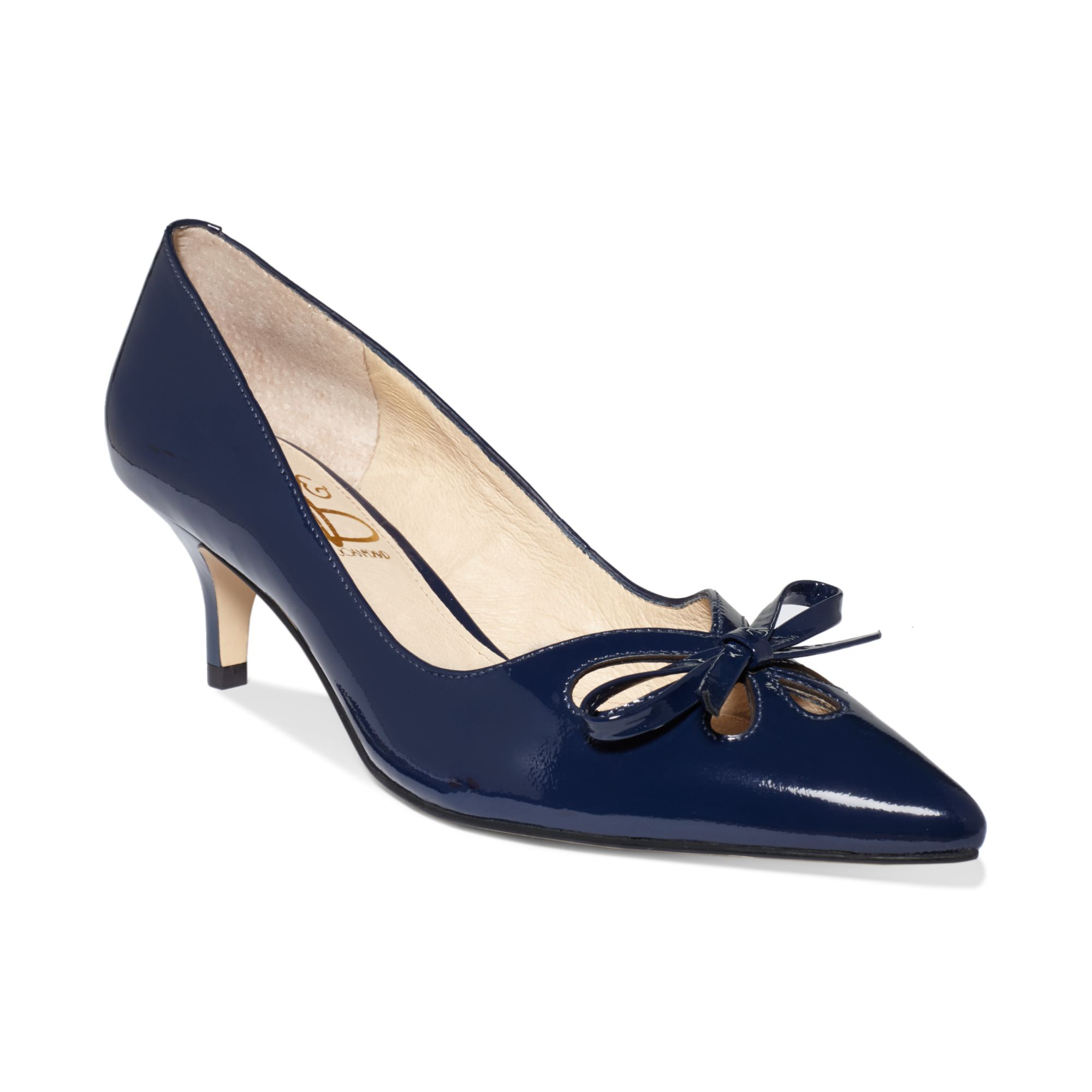 Navy Kitten Heel Pumps A7bi3IRK