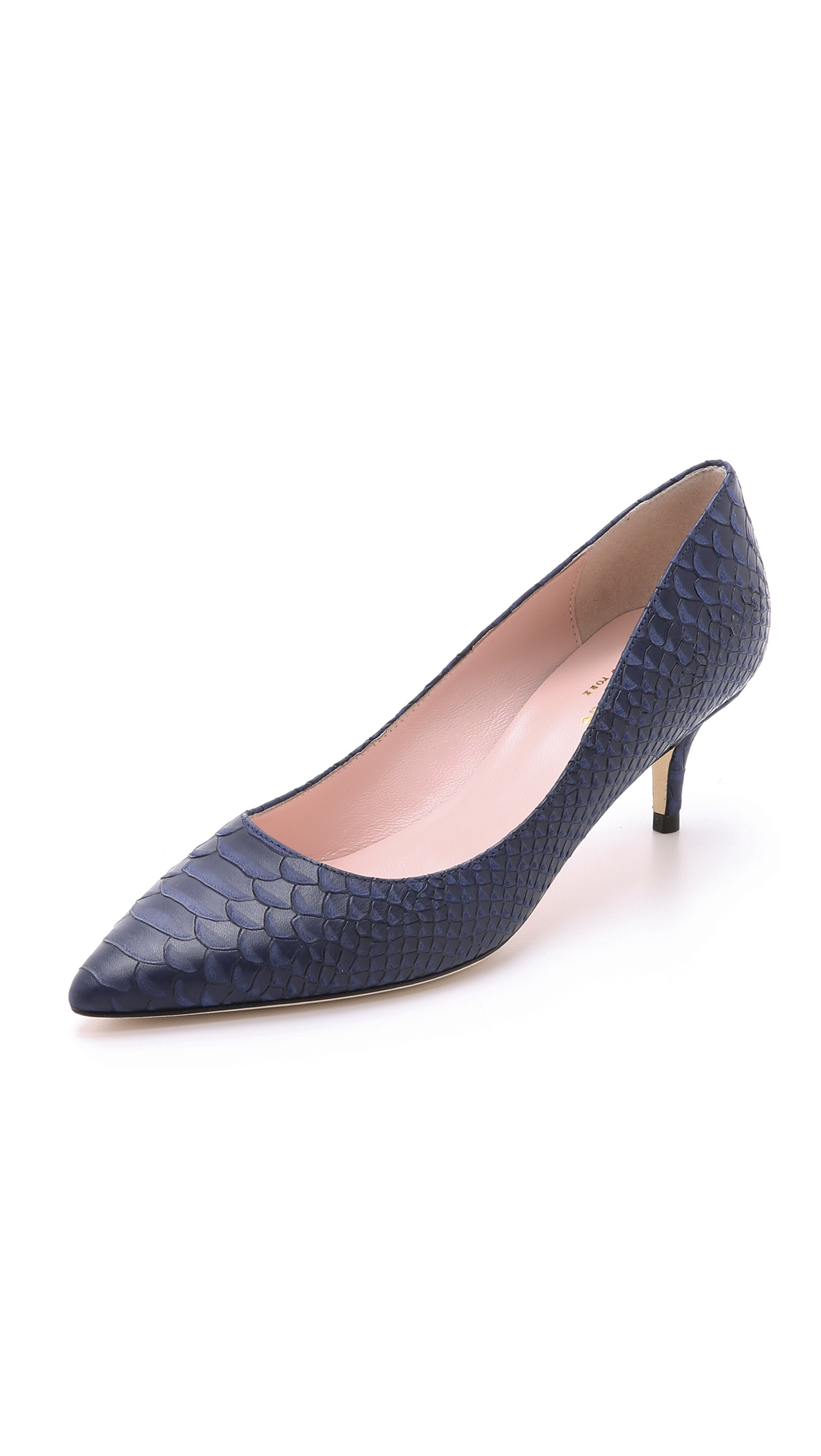 Navy Kitten Heel Pumps 2mI5Yl6r