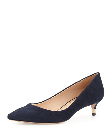Navy Kitten Heel Pumps FQ6A8qsd