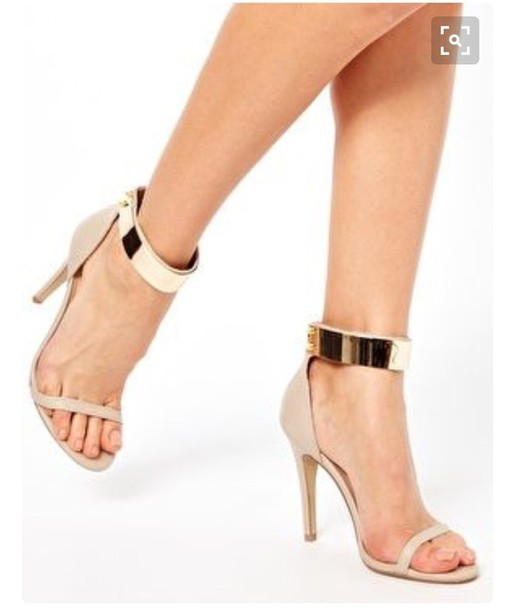 Nude And Gold Heels erKmsPBo
