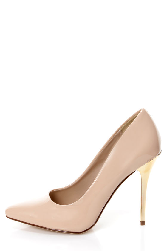 Nude And Gold Heels knM46Hmb