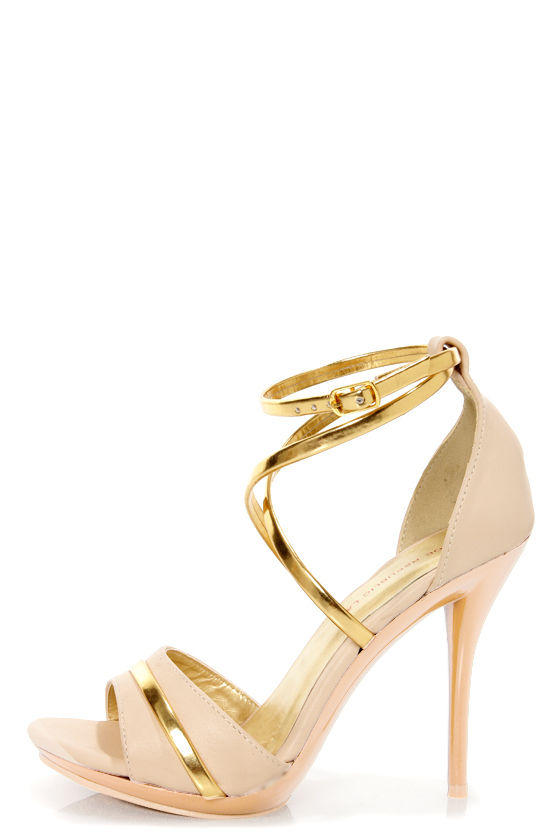 Nude And Gold Heels aIQEDOoW