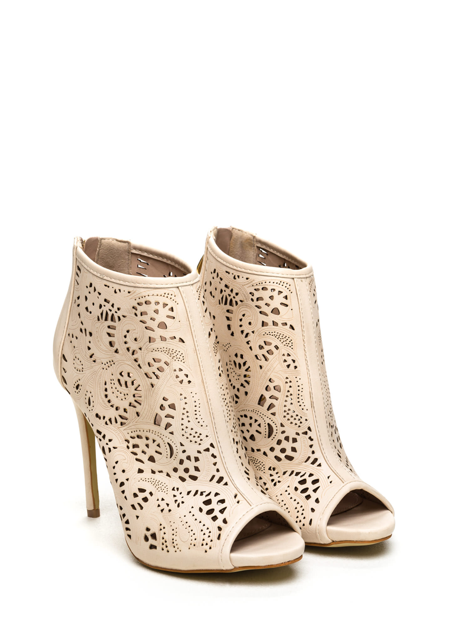 Nude Cut Out Heels 3NMy5iwV