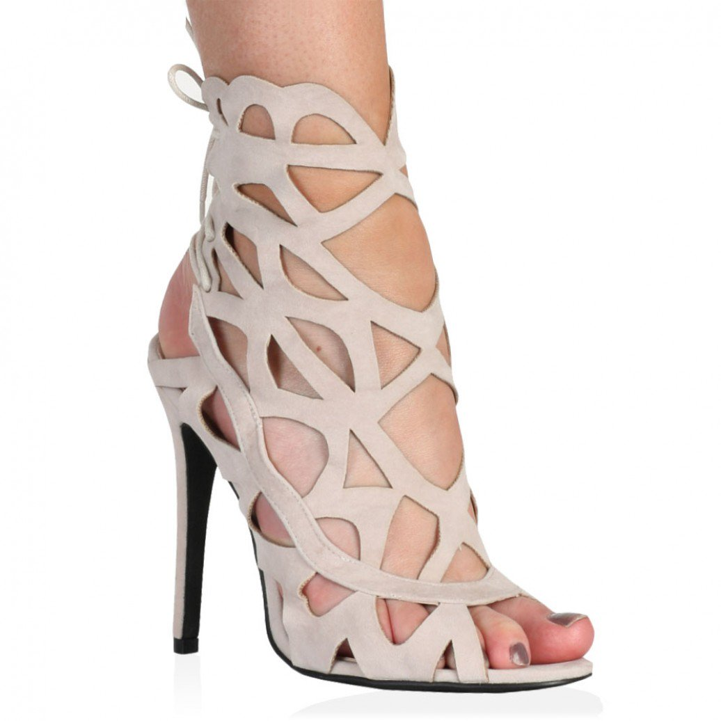 Nude Cut Out Heels YZrhFBK7