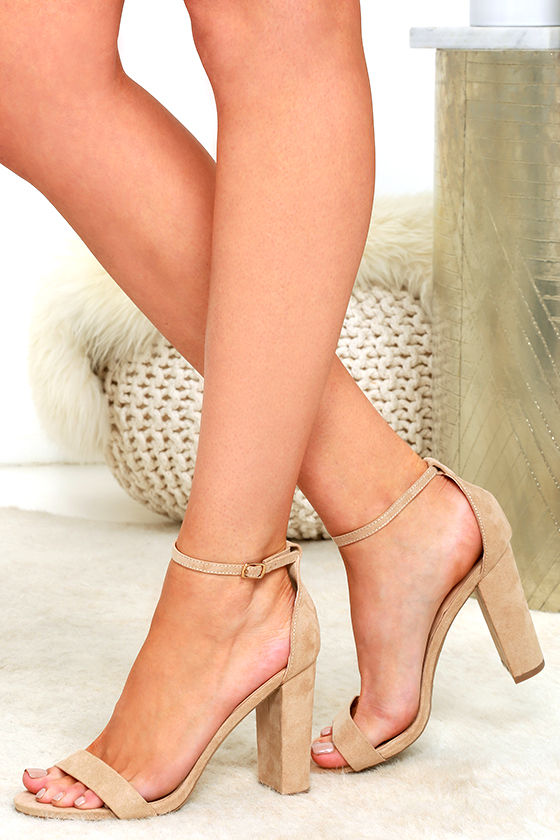 Nude Heels With Ankle Strap 3TLRTvgF