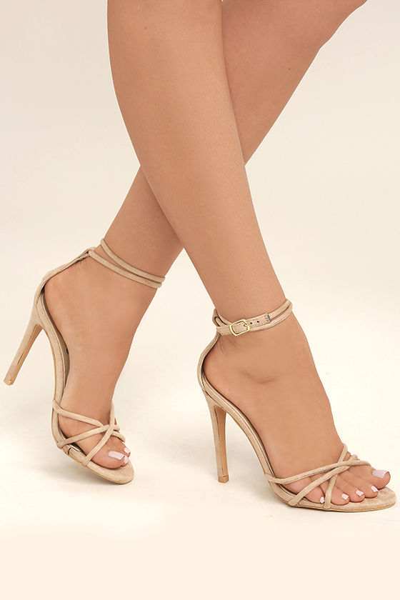 Nude Heels With Ankle Strap V0QyjxQl