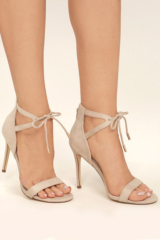 Nude Heels With Ankle Strap EKM5k5Kl