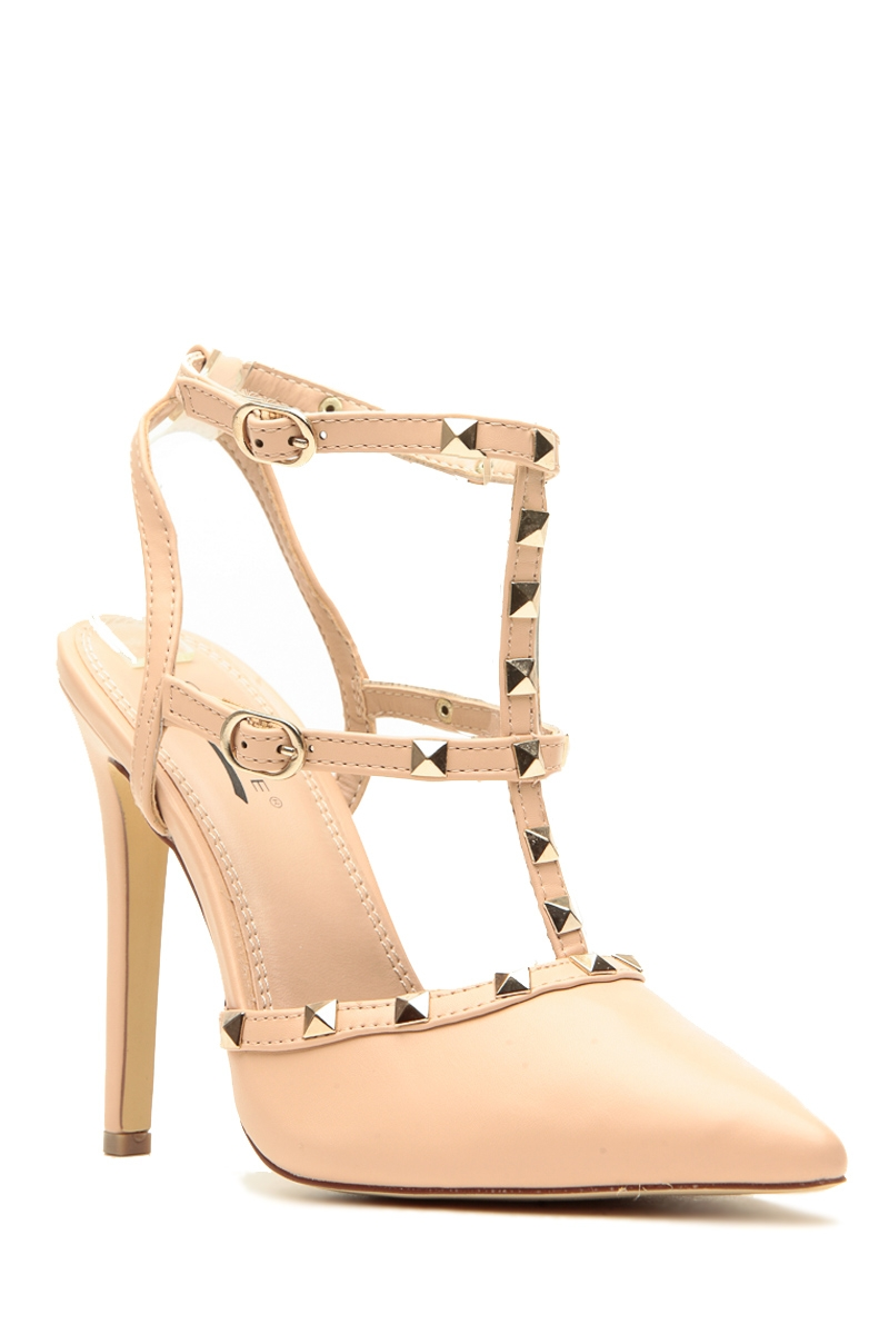 Nude Heels With Studs wu2l6m86