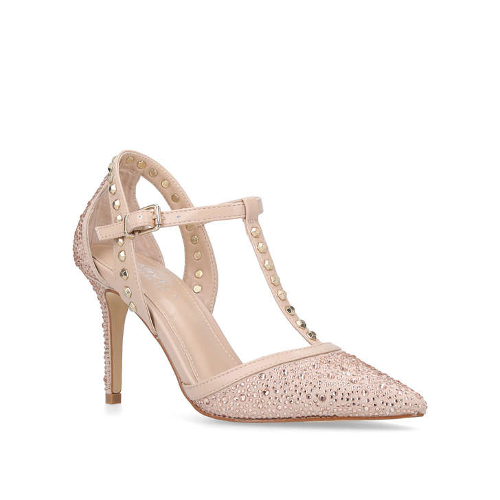Nude Mid Heel Shoes UAXQJ7iM