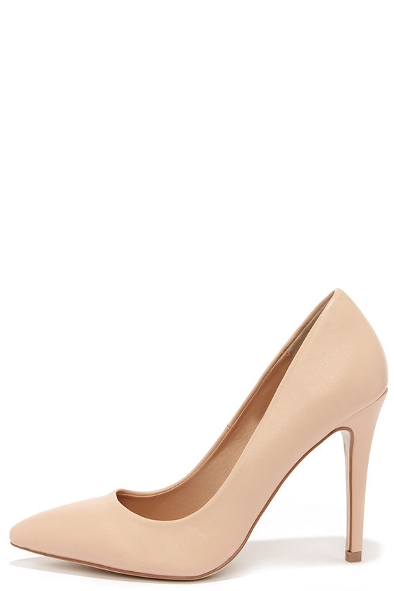 Nude Pointed Heels TA40dCpF