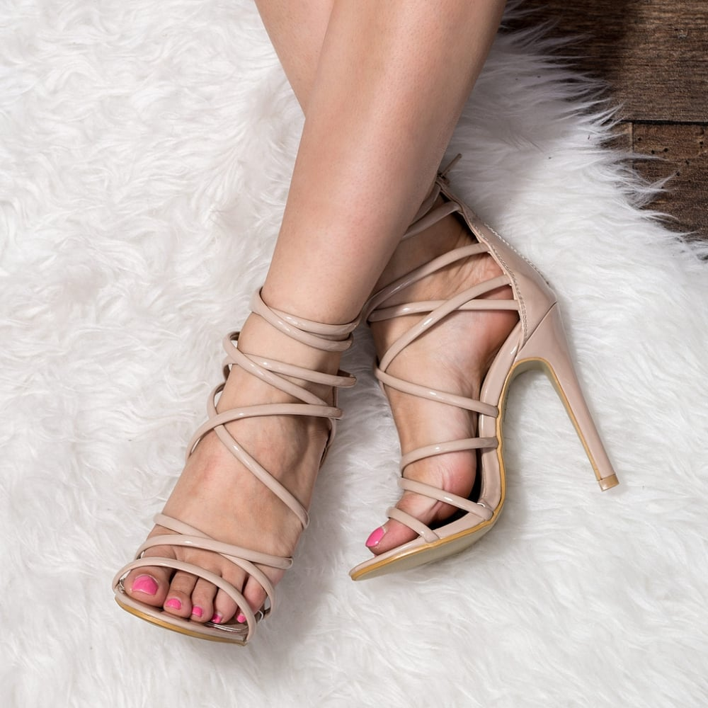 Nude Strappy High Heels yoiqrghY