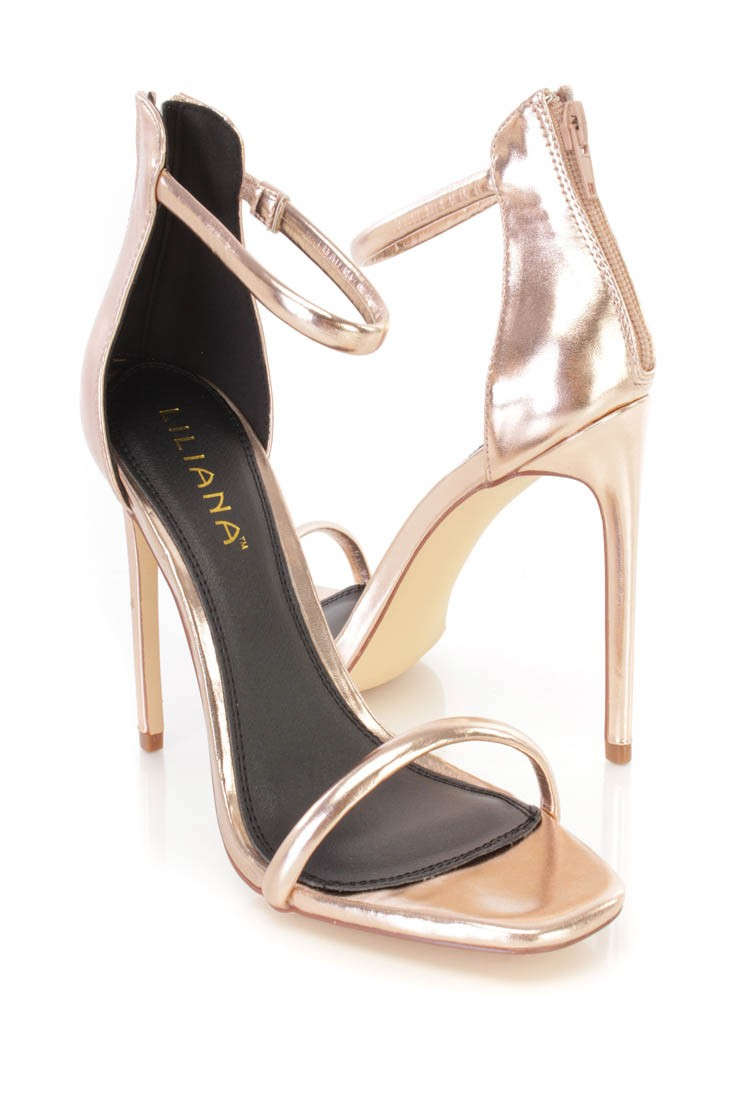 Open Toe Gold Heels TstCYu9c
