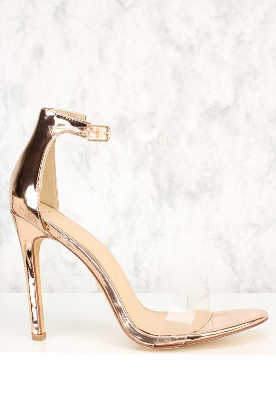 Open Toe Gold Heels e6qGuO1d