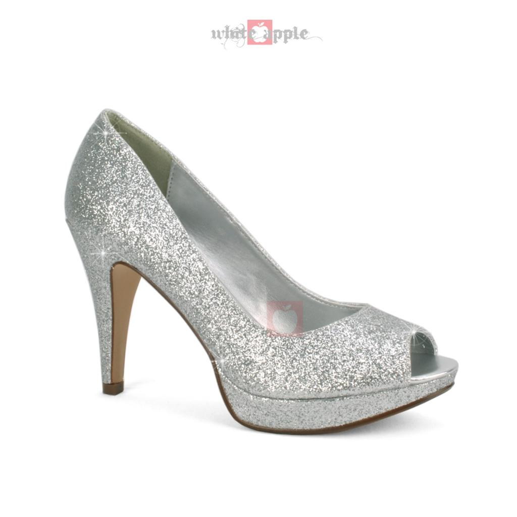 Open Toe Silver Heels gbskz0nJ